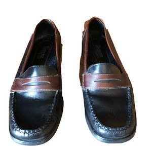 Bass Weejuns Leather Penny Loafers Black Brown